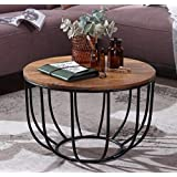 Priti Solid Wood Indiana Bowed Round Coffee Table