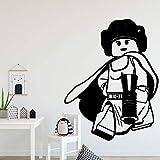 yaoxingfu Dibujos Animados deEstilo europeoTatuajes de Pared PVC Mural Art DIY Poster para la Sala de Estar Dormitorio Decoración de La Pared Mu87x121
