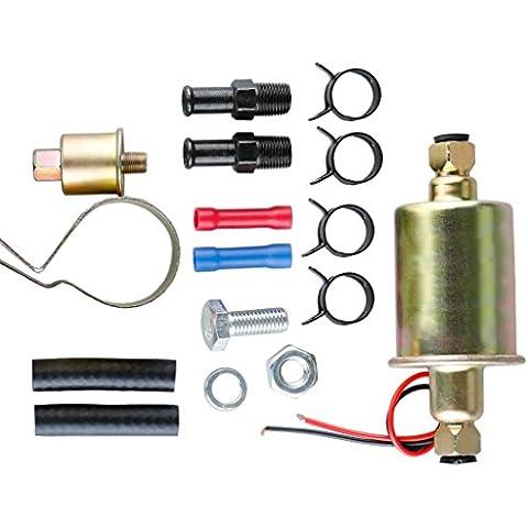 Pompa Carburante 12V Automotiva Elettrica Combustibile e Kit di Installazione Universale