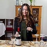 CORKAS Kellnermesser - multifunktionaler Korkenzieher mit Natur Ebenholzgriff - Weinöffner & Flaschenöffner für Kellner & Barkeeper - 7
