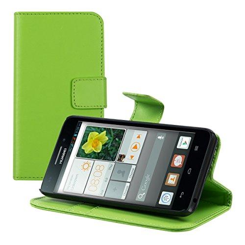 kwmobile Huawei Ascend Y550 Hülle - Kunstleder Wallet Case für Huawei Ascend Y550 mit Kartenfächern und Stand