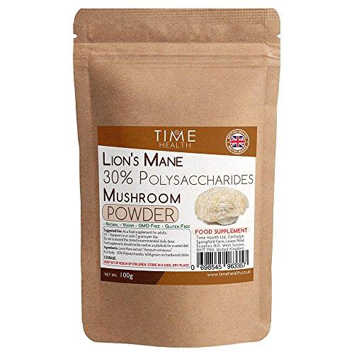 Lions Mane mushroom extract 100g powder - 30% Polysaccharides ( Hericium erinaceus ) (100g Powder Pouch) Test
