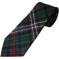 Para hombre 100% corbata de lana de Nacional de cuello de tartán escocés