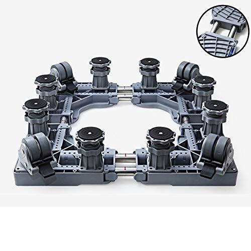 Waschmaschinensockel mit Acht-Fuß Vier-Doppel-Bremse Bigfoot, Universeller Multifunktionaler Mobiler Sockel für Wasch und Kühlschrankständer -