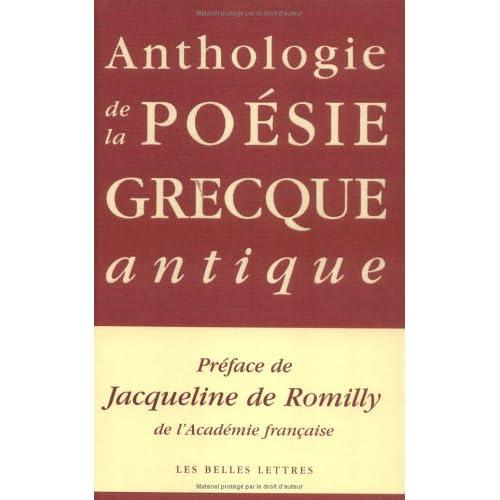 Anthologie de la poésie grecque antique