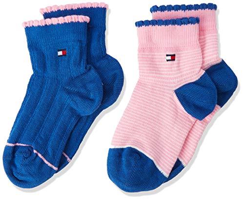 Tommy Hilfiger Tommy Hilfiger Unisex Baby TH BABY GIRL CUTIE SOCK 2P Socken, 2per pack Mehrfarbig (midnight blue 563), 15-18 (Herstellergröße: 15-18)