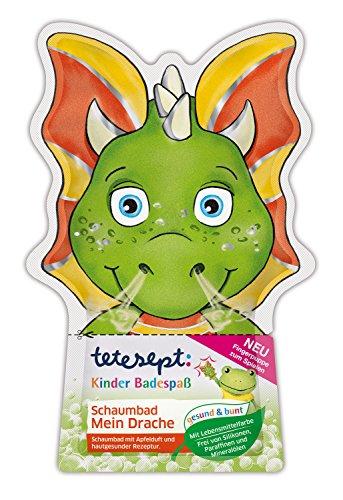 tetesept Kinder Badespaß Schaumbad Mein Drache, 15er Pack (15 x 40 ml)