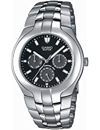 CASIO Edifice EF-304D-1AVEF - Reloj de cuarzo con correa de acero inoxidable para hombre, color plateado