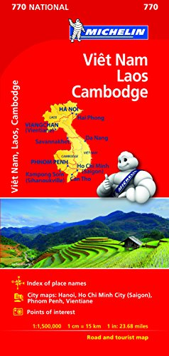 Michelin Vietnam Laos Cambodia Map