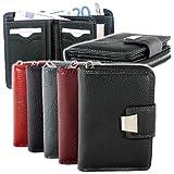 Produkt-Bild: Damen Geldbörse Portemonnaie Geldbeutel Rindleder 5197