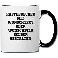 Zwei Farbige Wunschtext Tasse Schwarz/Weiss bedrucken lassen mit eigenen Text, Foto oder Motiv. Tasse Kaffeebecher Kaffetasse Kaffeepott Geschenk Geschenkidee Personalisierte Fotogeschenke