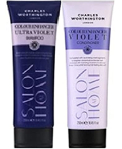 (2 PACK) Charles Worthington Colour Enhancer ULTRA VIOLET Shampoo x 250ml & Charles Worthington Colour Enhancer VIOLET Conditioner x 250ml