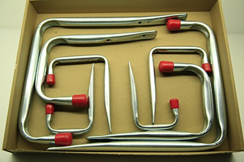 VORMANN Wandhaken U-Form, 8-teiliges Set, 4 Größen, Made in Germany