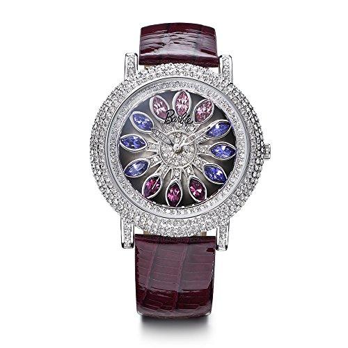 barbie-damenuhr-leder-armband-kupfer-armbanduhr-quarz-analog-uhr-violett-w50483l01a