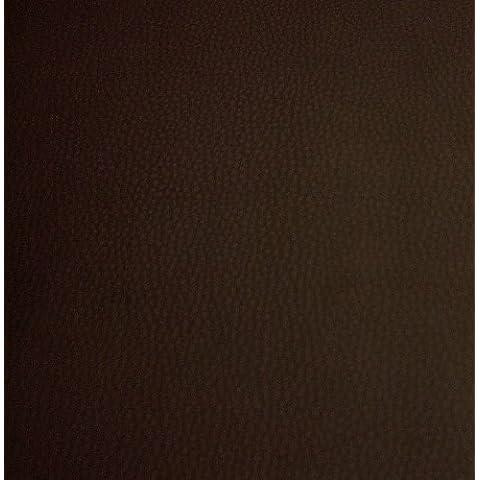 Sky Plus - Cuero de alta calidad - Inífugo B1 - Por metro - 5 colores (marrón chocolate oscuro)