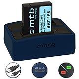 Akku + Dual-Ladegerät (USB) für DMW-BCG10(E) | Panasonic Lumix DMC-TZ10, TZ18, TZ20, TZ25, TZ27, TZ30, TZ31, TZ65 | ZS6, ZS7, ZS8, ZS9, ZS10, ZS15, ZS20…. - s. Liste! (inkl. Micro-USB-Kabel)