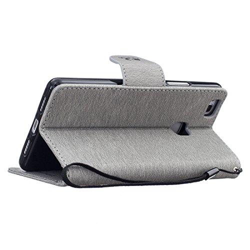 Chreey Coque Apple Iphone 6 / 6S (4.7 pouces) (DON'T TOUCH MY PHONE),PU Cuir Portefeuille Etui Housse Case Cover ,carte de crédit Fentes pour ,idéal pour protéger votre téléphone gris