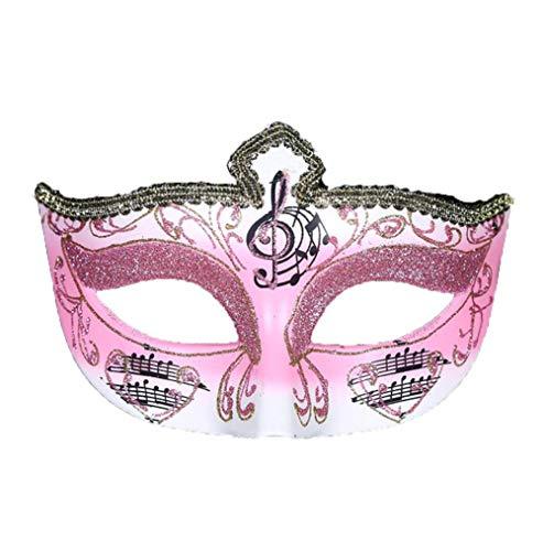 TINGTING Halloween Mardi Gras Maske Royal Blue Venezianische Maskerade Masken Für Paare,Pink