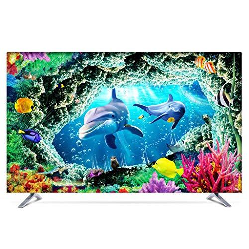 Monitor Hülle Polyesterbezug Staubdichtes, antistatisches LCD- / LED- / HD-Display-Schutzgehäuse Kompatibel mit Curved-TV, Desktop-TV und Hänge-TV 22-80 Zoll-75Zoll-G