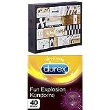 Amazon Surprise Feel more love Erotischer Adventskalender 2018 - Für Paare + Durex Fun Explosion Kondome - Verschiedene Sorten für aufregende Vielfalt - Verhütung, die Spaß macht - 40er Großpackung