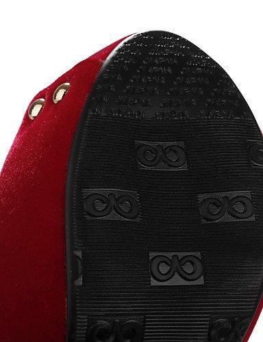 UWSZZ IL Sandali eleganti comfort Scarpe Donna-Sandali / Scarpe col tacco-Formale / Casual / Serata e festa-Tacchi / Spuntate / Plateau-A stiletto-Finta pelle-Nero / Blu / Black