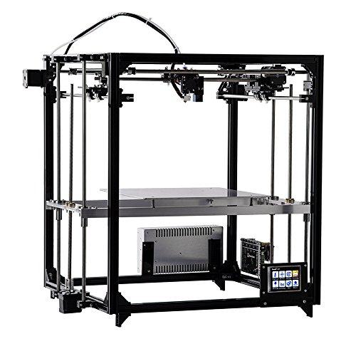 FLSUN F5 3D Drucker, Touchscreen Doppel Extruder DIY Drucker Kit Auto Nivellierung Druck Größe 260X260X350mm mit Beheizten Bett und Wifi Modul - 3