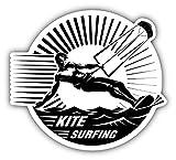 Kite Surfing Label Auto-Dekor-Vinylaufkleber 12 X 12 cm