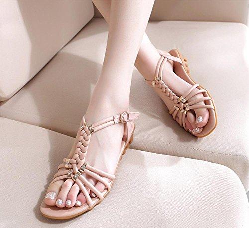Fischkopf hochhackigen Sandalen Casual Sandalen mit weichen Sohlen Schuhe Sommer Sandalen und Pantoffeln Pink