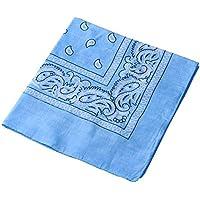 Multifuncional pañuelo para la cabeza diadema velo estampado Retro Headwear máscara para Ciclismo bicicleta Azul azul celeste