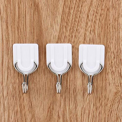 hahuha Toy  6 STÜCKE Starke Klebstoff Haken Wand Tür Klebrige Kleiderbügel Halter Küche Badezimmer Weiß (Schönheits-ausrüstungs-halter)
