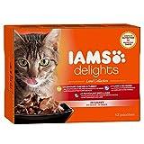 Nassfutter für erwachsene Katzen mit verschiedenen Fleisch-Sorten in Sauce
