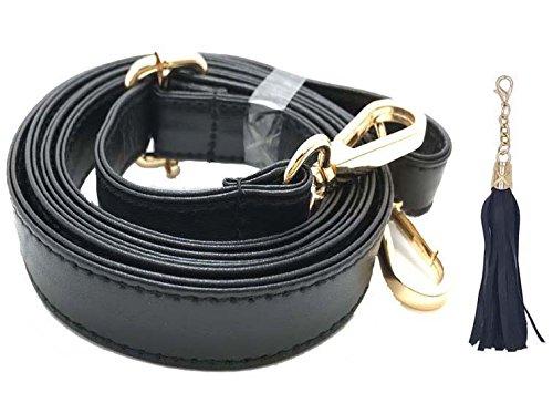 Geldbörse Gurt Ersatz-Mikrofaser-Leder für Crossbody Tasche oder Handtasche, 2cm Breite verstellbare 38,1-149,9cm lang-von beaulegan Gold - 2 cm (Wide) (Patch Body Cross)