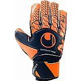 uhlsport Torwarthandschuhe Next Level-Soft SF Junior-In den Größen 4-9 Innenhand, Keeper-Handschuhe entwickelt mit Profis-Optimaler Halt und Grip, in Kindergrößen verfügbar, Marine/Fluo rot, 8