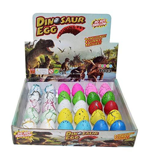 ier Dino Dragon Hatching Growing Hatch Wachsen Ei für Kinder / Kinder / Kleinkinder / Kind / Schule Bildung (30 stücke, Mix riss Farbe) ()