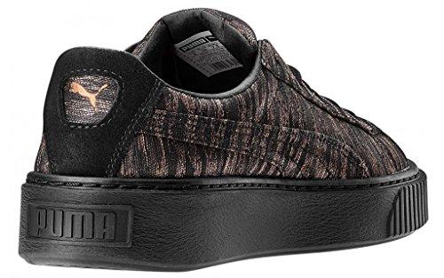 Puma Damen Basket Platform Vr Sneaker Schwarz (Black-Black)