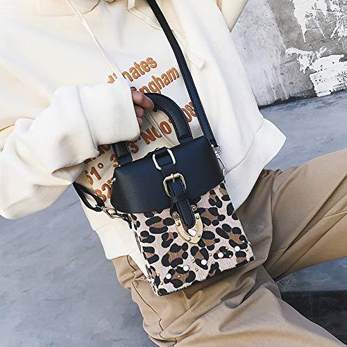 Ldyia Bag Frauen Handtaschen gedruckt Wilde alte Blume Umhängetasche Temperament weiblichen Beutel Schulterschloss Schnalle Handtasche, Leopardenmuster