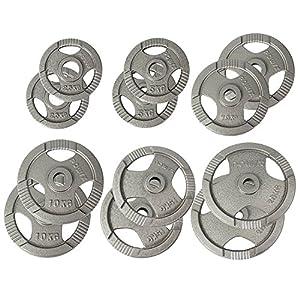 POWRX Olympia Gewicht Hantelscheiben 2,5-40 kg | 2er Set Ideal für Kurzhanteln und Langhanteln mit Durchmesser 50 mm