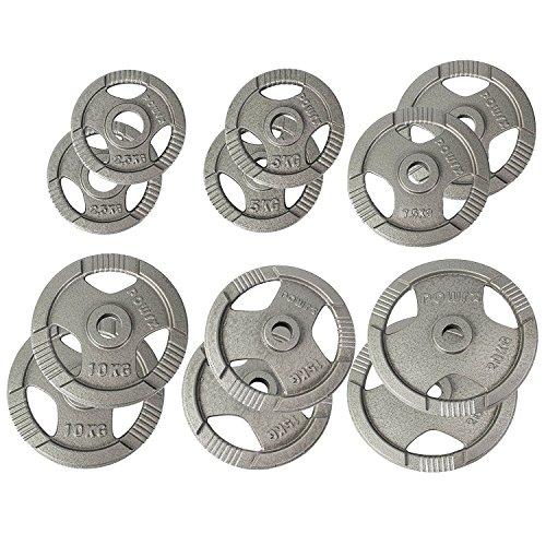 t Hantelscheiben 2,5-40 kg | 2er Set ideal für Kurzhanteln und Langhanteln mit Durchmesser 50 mm (20) ()