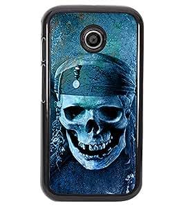 PRINTVISA dangers Symbol Premium Metallic Insert Back Case Cover for Motorola Moto E - D6043