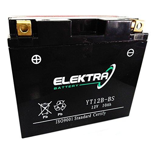 Batteria sigillata Elektra YT12B-BS 12 V 10 Ah 160 CCA acido incluso