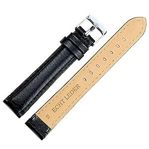 Clarkwatches Uhrenarmband 16mm 18mm 20mm 22mm Leder in Schwarz Braun mit Schnellverschluss