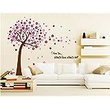 ufengke® Romántico Árbol de Flor Roja Pegatinas de Pared, Sala de Estar Dormitorio Removible Etiquetas de la pared / Murales