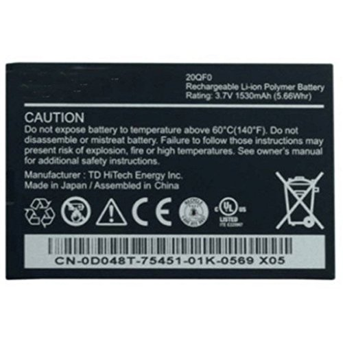 BPXLaptop Battery 20QF0 Lithium ION Battery for Dell Streak Mini 5 1530mAh