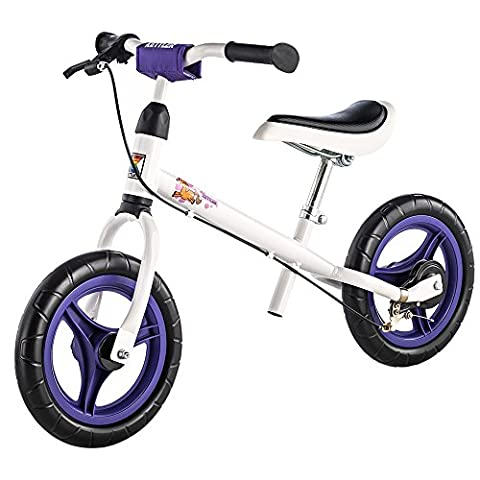 """Kettler Laufrad Speedy """"Pablo"""" 2.0 – Farbe: Weiß – Reifengröße: 12,5 Zoll, ab 2 Jahren geeignet – das ideale Lauflernrad – maximale Sicherheit – Artikelnummer:"""