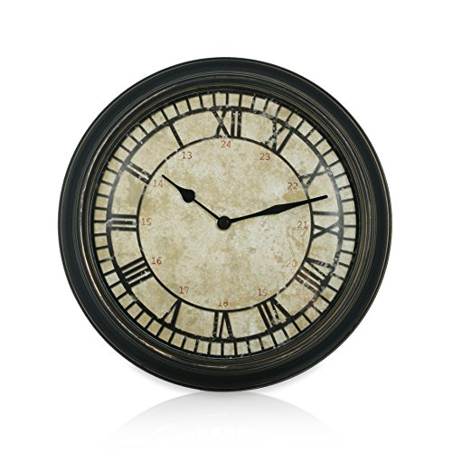 Thumbs Up Antique backclock Orologio speculare quarzo Beige/Nero 30 x 30 x 6 cm