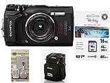 Olympus Tough TG-5 schwarz + Fototasche + 16GB SDHC Speicherkarte + 5in1 Reinigungsset