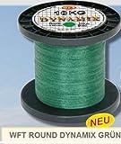 WFT Round Dynamix 600m geflochtene Angelschnur, Durchmesser:0.25mm;Farbe:Grün