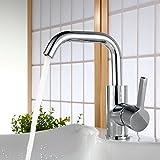 Homelody 360° Drehbar Armartur Waschtischarmatur Wasserhahn Bad Mischbatterie Waschbecken Einhebelmischer Badarmatur Wasserkran