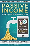 Passive Income Ideas and Streams: Top 15 ideas and strategies in 2018 to MAKE $500-10,000$ a month.: (Passive income Online, Passive Income Streams, Ideas, BONUS at the end!)