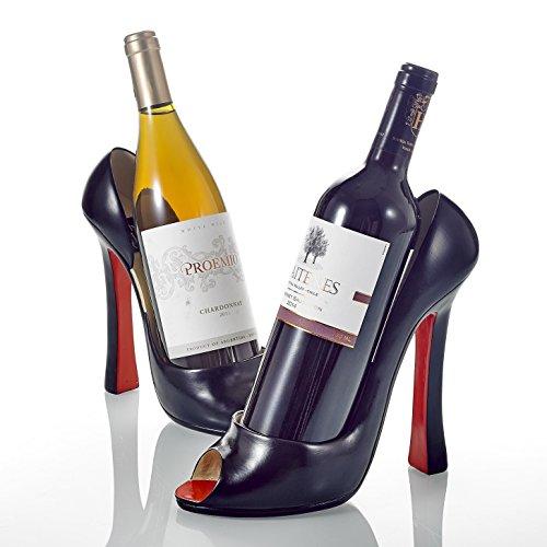 Pure. Lifestyle, 2-teilig 21,6 cm Porzellan High Heel Weinflaschenhalter, Küche Tisch Dekor, Wein...